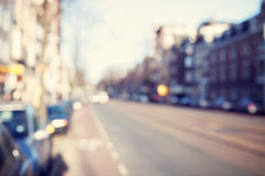 Blurred image a street. Royalty Free Stock Photo