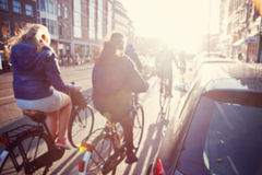 Blurred image a street. Royalty Free Stock Image