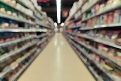 Blurred image of supermarket royalty free stock images