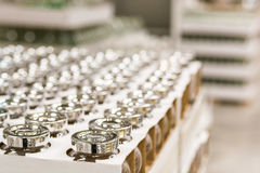 Blurred image of supermarket. With aisles and shelves in background Royalty Free Stock Photo