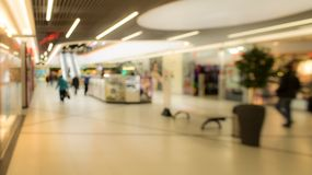 Blurred image of supermarket or lobby of shopping center Stock Images