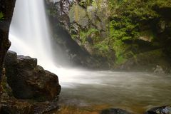 Blurred image of water in the waterfall Stock Images