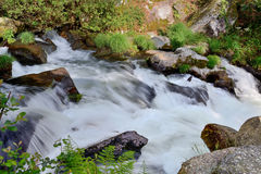 Blurred image of water in the waterfall Royalty Free Stock Photography