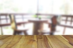 Free Blurred Image Wood Table And Woodden Chair And Table Setting On Stock Image - 86625591