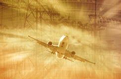 Blurred industrial landscape Stock Images