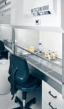 Blurred interior of modern cell culture room in laboratory Royalty Free Stock Photo