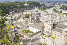 Blurred landscape of Salzburg from the top Stock Photography