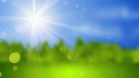 Blurred landscape at sunny day seamless loop 4k (4096x2304) stock footage