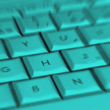 Blurred laptop keys Stock Photo