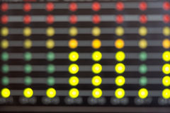 Blurred LED's indicators Royalty Free Stock Images