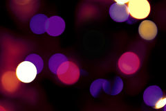 Blurred light, bokeh effect Royalty Free Stock Photos