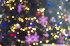 Blurred light of Christmas Stock Photo