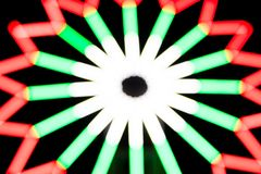 Blurred light of Ferris wheel for festival background. And texture Stock Photography