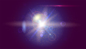 Blurred light rays and lens flare backdrop. Glow light effect. Star burst with sparkles. Abstract bright motion Royalty Free Stock Images