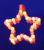Blurred lighting star Royalty Free Stock Images