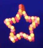 Blurred lighting star