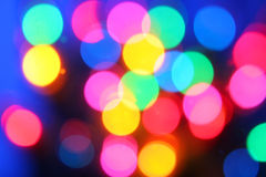 Blurred lights. Blurry background of christmas tree lights Stock Photography