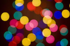Blurred lights. Royalty Free Stock Photo
