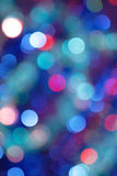 Blurred lights. Abstract background of blurred colored lights, defocused royalty free stock photos