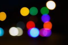 Blurred lights black Stock Photography