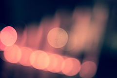 Blurred Lights Bokeh In The Coloured Lights Of A Metropolis Royalty Free Stock Photography