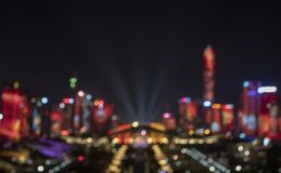 The blurred lights on the building royalty free stock photo