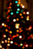 Blurred lights. of Christmas tree. Bokeh effect Stock Photos