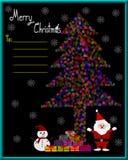 Blurred lights, christmas tree bokeh light shape Royalty Free Stock Photos