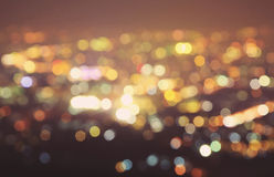 Blurred lights from doi suthep Royalty Free Stock Images