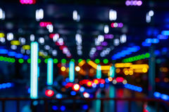 Blurred Lights Of A Funfair Royalty Free Stock Photo