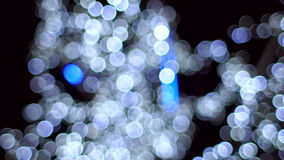Blurred lights garland, slow motion. stock video