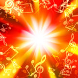 Blurred Lights In The Form Of Musical Signs Stock Photography