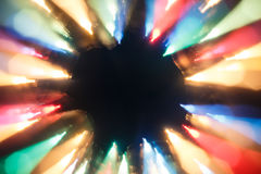 Blurred lights motion Stock Images