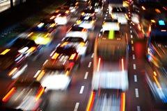 blurred lights motorway tail traffic Στοκ φωτογραφίες με δικαίωμα ελεύθερης χρήσης