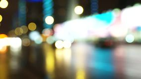 Blurred lights from moving cars stock footage