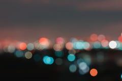 Blurred lights at night Stock Photo