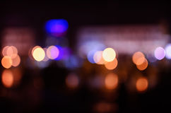 Blurred lights from night city Stock Photo