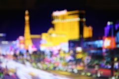 Blurred lights of night Las Vegas Stock Photos