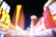 Blurred lights of night Las Vegas Royalty Free Stock Photos