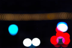 Blurred Lights at night Royalty Free Stock Image