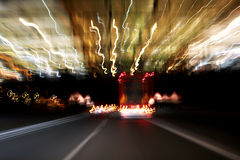 Blurred lights from road traffic Royalty Free Stock Images