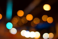 Blurred lights. Some lights from the street. Perfect background Royalty Free Stock Images