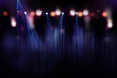 Blurred lights on stage, abstract of concert lighting Royalty Free Stock Images