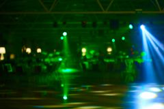 Blurred lights on stage, abstract image of concert lighting.  stock photos