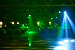 Blurred lights on stage, abstract image of concert lighting.  stock images