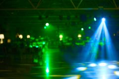 Blurred lights on stage, abstract image of concert lighting.  royalty free stock image