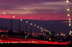 blurred lights traffic Στοκ φωτογραφίες με δικαίωμα ελεύθερης χρήσης