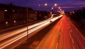 blurred lights traffic Στοκ εικόνες με δικαίωμα ελεύθερης χρήσης