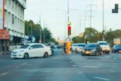 blurred lights traffic Στοκ Φωτογραφίες