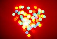 Blurred lights valentine background Royalty Free Stock Photos